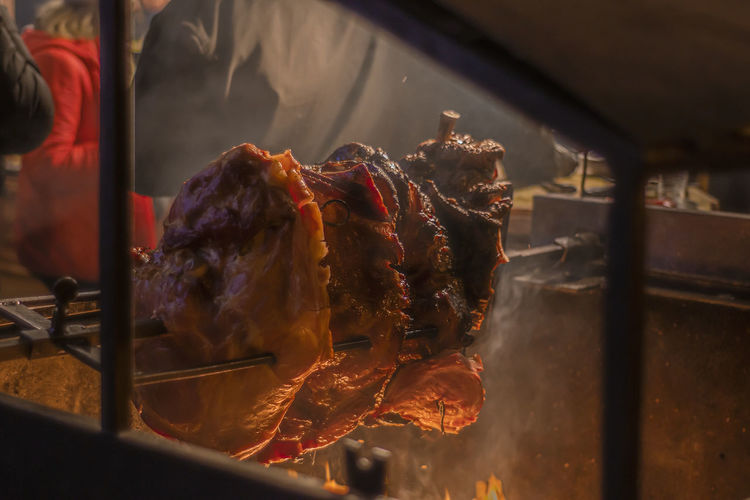 Close-up of meat for sale at market