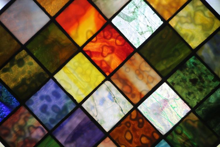 A Stained glass panel made, love the patterns. Artist Mike Stouffer Stained Glass TheSixthLens Art Colorful Glass Pattern