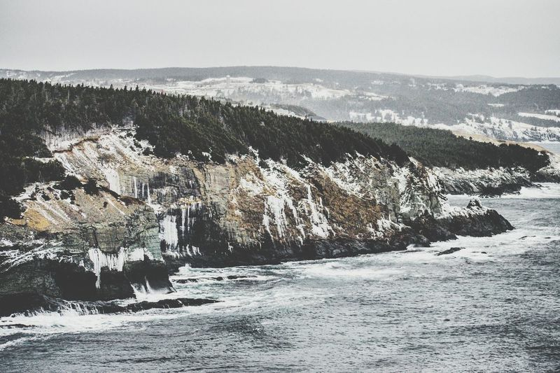 A very wintry and icy coastline in Newfoundland!