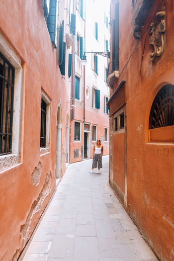 Venice Venice, Italy Italy Travel Travel Destinations Summer City Building Exterior Architecture Real People Building One Person Day Full Length Lifestyles Footpath Men Street Incidental People Walking The Way Forward Outdoors Alley Young Woman Woman
