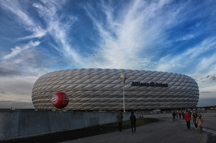 Allianz Allianz Arena Allianzarena Building Exterior Outdoors Soccer Stadion Stadium The Way Forward