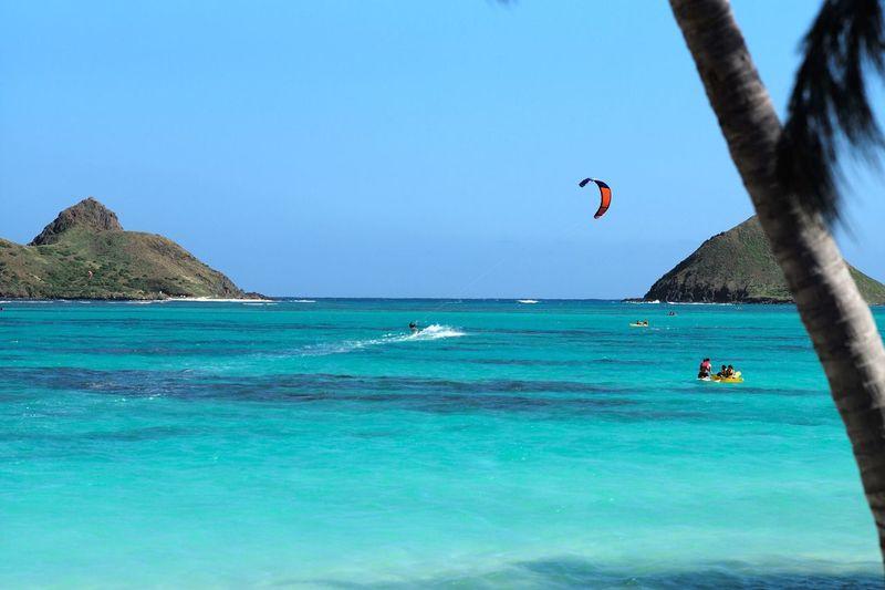 Hawaii Oahu Lanikai Beach Mokuluas Kitesurfing Kitesurf