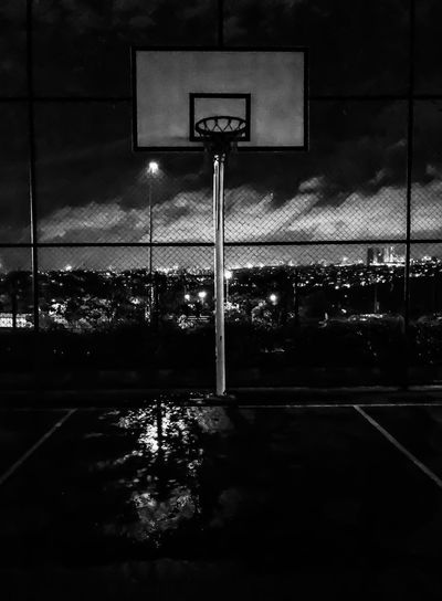 Night No People Basketball Hoop Basketball - Sport Court Outdoors Sport Blackandwhite Black And White Nightphotography Mobilephotography IPhoneography EyeEm Best Shots EyeEmNewHere BYOPaper! in Istanbul Turkey