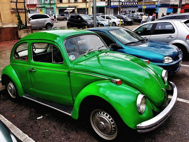 Green Beetle Sampa Beetle Fusca Car Transportation Day Land Vehicle Outdoors Stationary No People