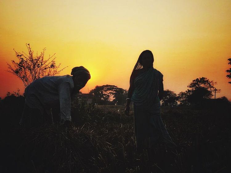:|||| Two People Togetherness Nature Love Sunset Real People Couple - Relationship
