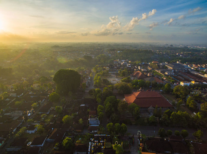 The city of Tabanan just a moment after the sunrise. The picture was taken near the famous Gedung Mario (Marya), which is the center of art exhibition point in the area. Bali Bali, Indonesia Balinese Life Cityscape Drone  Drones INDONESIA Tabanan, Bali, Indonesia Tree Aerial Aerial View Architecture Balinese Culture Beauty In Nature City Cityscape Indonesia_photography Landscape Nature Residential District Sunrise Sunrise_sunsets_aroundworld Sunset Tabanan TOWNSCAPE