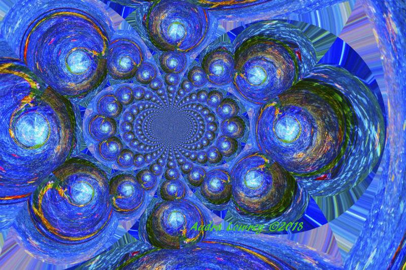 Arkansas River Backgrounds Blue Circle Geometric Shape Kaledescope Pattern Water