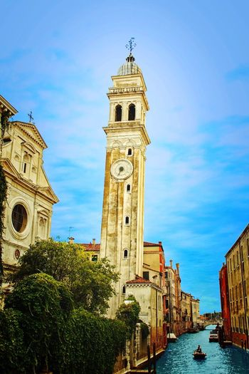 Venezia Architecture Tower Water Sky Canal City Blue Tourism Outdoors History Holiday Holidays First Eyeem Photo