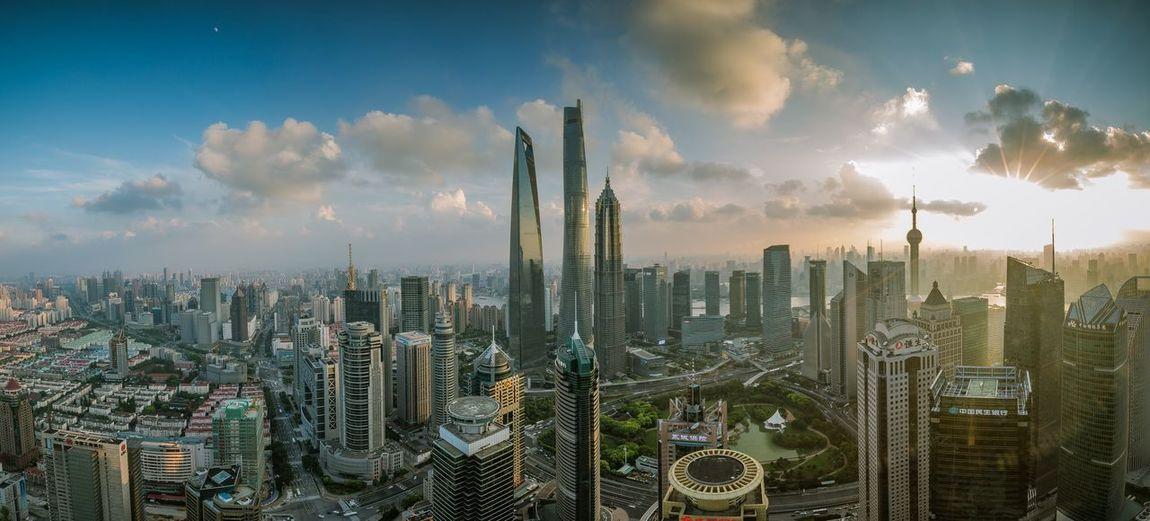 Scenic View Of Shanghai Skyline