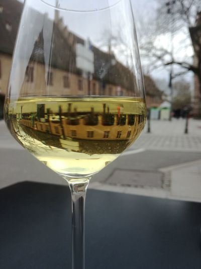 Alcohol Day Drink Focus On Foreground Household Equipment Reflection Transparent Wine