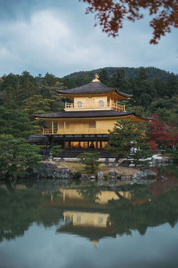 Japan Travel Photography Architecture Beauty In Nature Building Exterior Built Structure Day Golden Pavilion  Kyoto Kyoto,japan Lake Nature No People Outdoors Place Of Worship Reflection Religion Sky Tree Water Waterfront