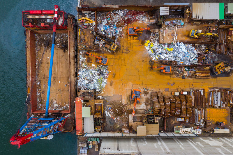 Aerial view of dock