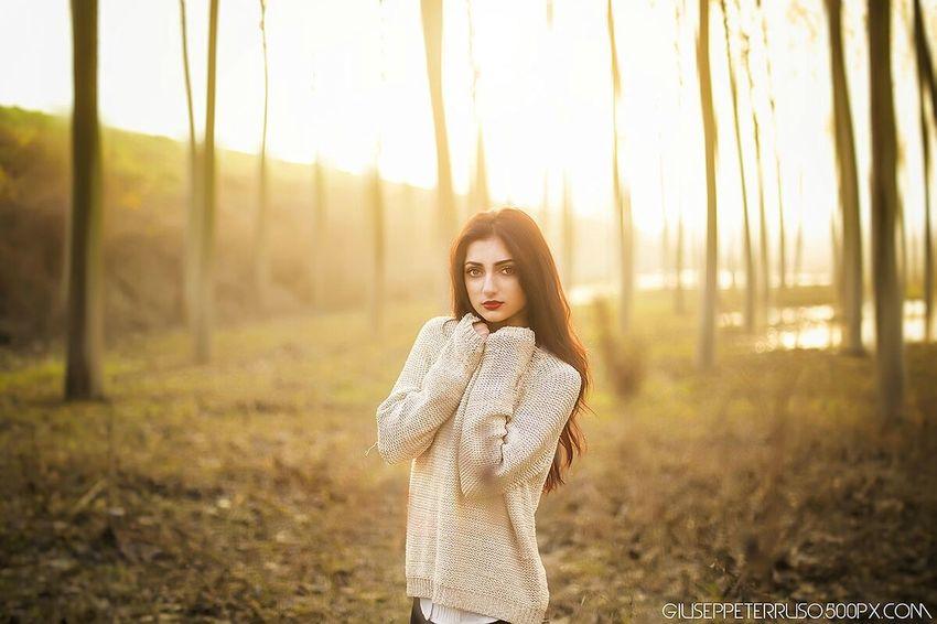 Sunny Day Sunset Portrait Model Mantova Wood Winter Mood Teen Forest Theportraitist-2016eyeemawards