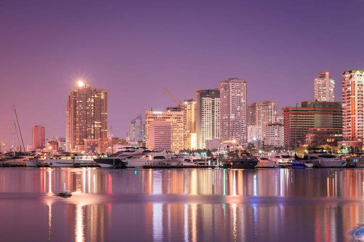 Harbor Square Urbanphotography Illuminated Nightlife Luxury Hotel Sea Shore Calm Waterfront Rippled Financial District
