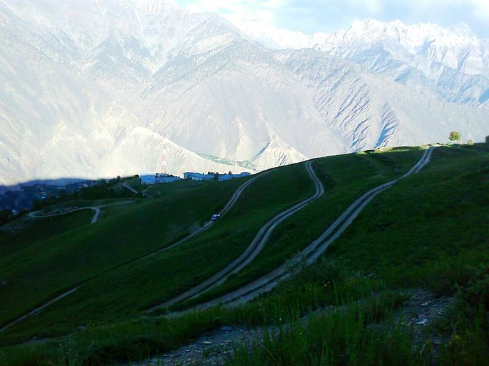 Grass Mountain Cloud - Sky Nature CHITRAL KPK PAKISTAN