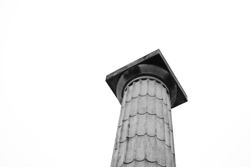 Sky temple column Architecture Argentina Argentina Photography Cloud - Sky Column Composition Day Doric Order Low Angle View Minimal Minimalism Minimalist Architecture Nikon No People Outdoors Perspective Rosario, Santa Fe Sky Stone Stone Material White Background White Sky The Architect - 2017 EyeEm Awards The Week On EyeEm