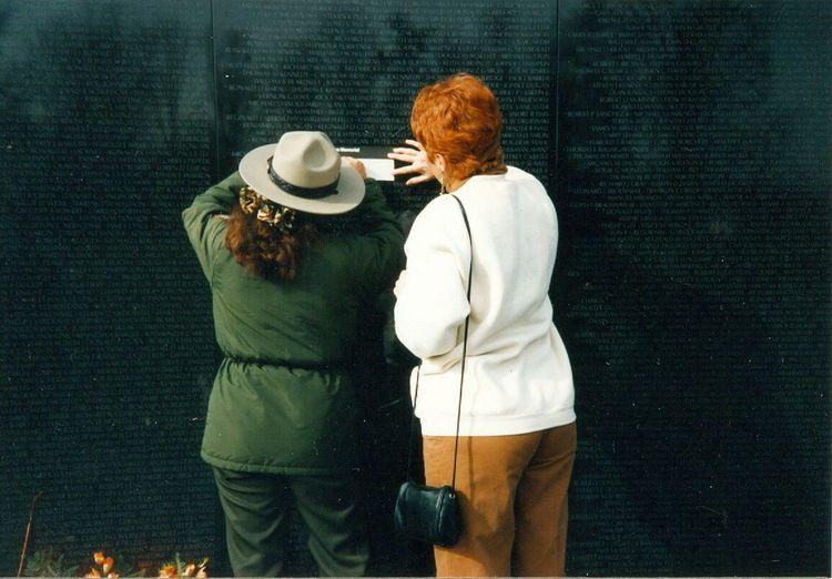 The Wall, Vietnam Vietnam Memorial Red Hair Park Ranger And Woman