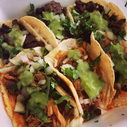 Chicken and Asada tacos