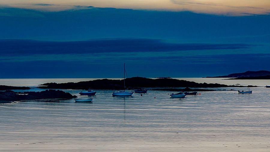 Water Sea Nautical Vessel Sky Scenics - Nature Beauty In Nature HUAWEI Photo Award: After Dark