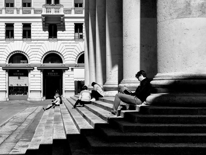 Lunchtime Streetphotography The EyeEm Facebook Cover Challenge EyeEm Best Shots Blackandwhite Trieste Lunch Lunchtime B&w Street Photography Shadow Architecture Light And Shadow Hypocam