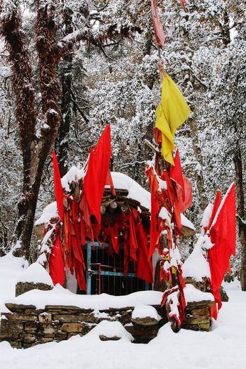 that temple at top EyeEmNewHere Outdoors Day Snow Cold Temperature No People Nature Sky