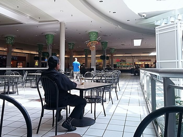 The Color Of Business Chair Sitting Table Indoors  Food And Drink Industry Dining White White Color Shopping Mall Shopping Center Food Court Dayton, OH Dayton Dayton Mall