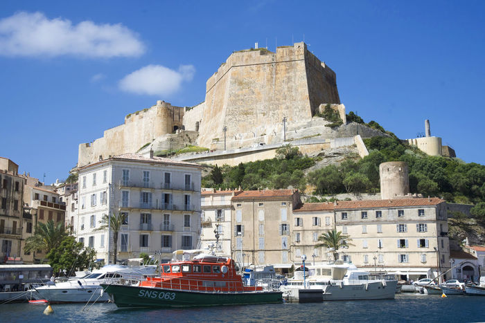 Amazing Architecture Bonifacio Botany Building Exterior Buildings Citadel City Cityscape Clear Sky Corse Corsica Day Fortress France I Nautical Vessel No People Old Town Outdoors Portrait Sea Travel Destinations Turistic Water