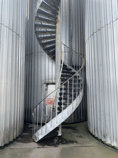 Staircase in abandoned building