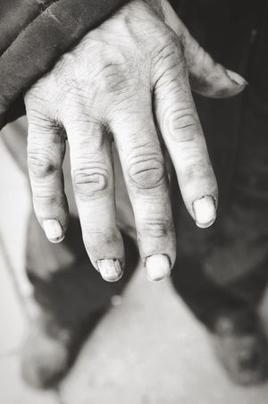 Person Human Finger Wrinkled Focus On Foreground Large Extreme Close Up Human Skin Old Homeless Blackandwhite Black And White B&w Art Careless Dirty Dirty Nails Hard Working Hand Monochrome Photography Focus Object