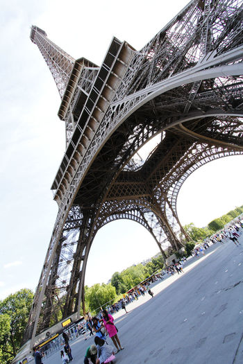 Eiffel Tower France International Landmark Low-angle Shot Paris Tourist Attraction  Travel Travel Destination