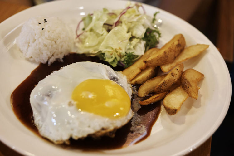 A6000 Close-up Egg Food Foodporn Freshness Hamburg Steak Plate Ready-to-eat Zeiss32mmf18