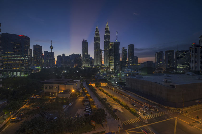 Ray of Lights in Kuala Lumpur city skyline Kuala Lumpur Kuala Lumpur Malaysia  Rays Of Light Sunset_collection Architecture Building Exterior Built Structure City Cityscape High Angle View Illuminated Modern Night No People Outdoors Ray Of Light Road Sky Skyscraper Sunset Tall Transportation Urban Skyline Stories From The City