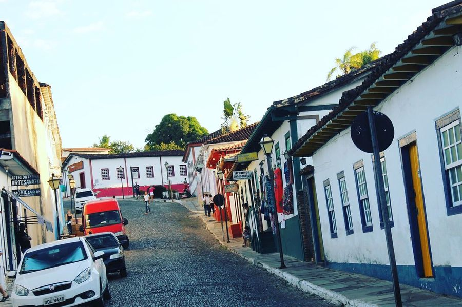 Pirenópolis, Goiás, Brazil. My Favorite Place Pirenopolis Piri Goias Brasil Brazil Town Small Town Interior Street Clear Sky Sky Day Outdoors Multi Colored New Talent TakeoverContrast