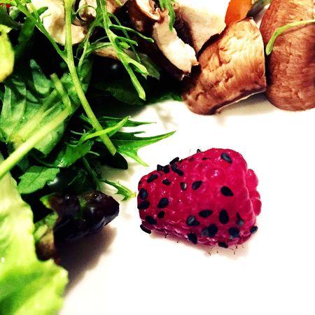 Food Fruit Berry Raspberry Freshness Salad Pink Color Blacksesame
