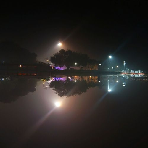 find out upper and lower part as real and reflection... 😜 Night Moon Illuminated Sky Reflection No People Water Outdoors Beauty In Nature Star - Space City Tree Astronomy Nature Space Pond Reflection Lake Nightphotography Illusion Photography Water Reflections Adapted To The City Kurukshetra