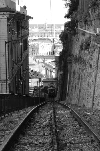 Architecture Built Structure Canal City City Life Crêuze De Zena Day Diminishing Perspective Empty Funicolare Getting Inspired Granarolo Liguria Long No People Outdoors Railroad Track Sky The Way Forward Travel Destinations Vanishing Point Walkway