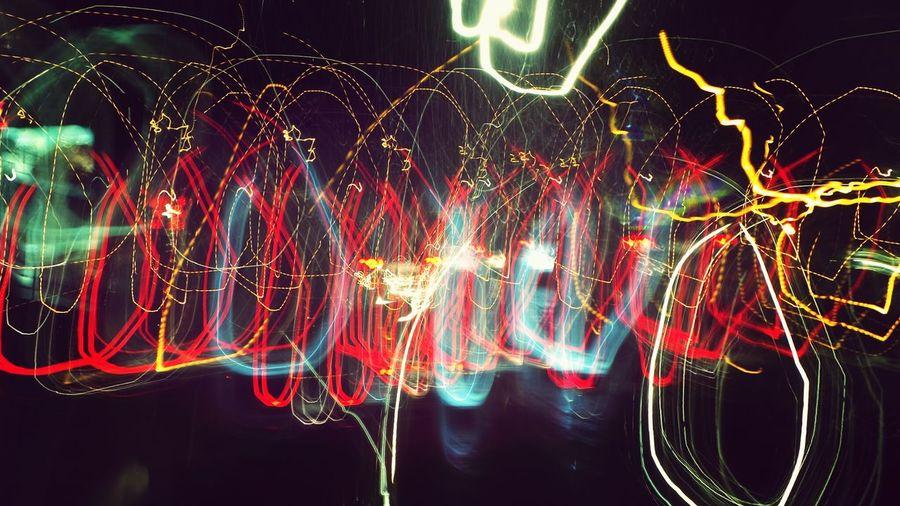 Light painting at night
