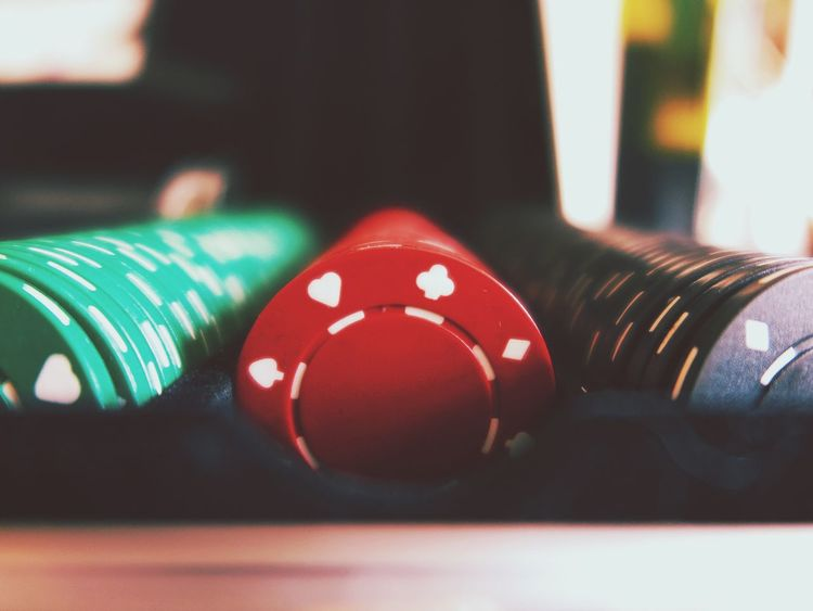 Leisure Games Close-up Focus On Foreground Gambling Table Red Indoors  Chance No People Pool Table Day Pool Ball Snooker Chip Token Red Directly Above Still Life Playing Playing Cards Addiction Roulette Casino Symbol