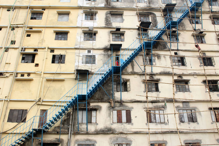 Building Exterior Architecture Built Structure Window Building Low Angle View No People Staircase Outdoors Steps And Staircases City Full Frame Railing Emergency Exit Apartment Accidents And Disasters Fire Escape