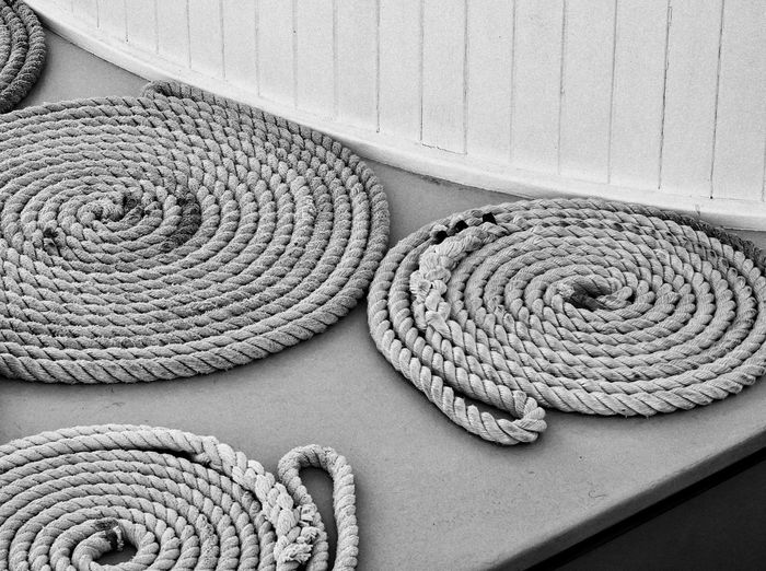 Close-Up Of Ropes On Table
