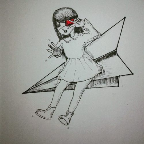 day 14: need a lot of rest haha Sickday Injuredhandandeye Inktober 14 Drawing Sketchbook Artsy