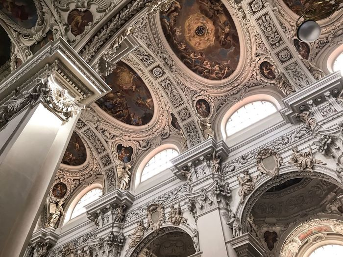 Passau, Germany Architecture Low Angle View Religion Fresco No People Ceiling Built Structure Place Of Worship Indoors  Ornate History Spirituality Travel Destinations Day Architectural Design Baroque Style Low Angle View Architecture Place Of Worship Spirituality