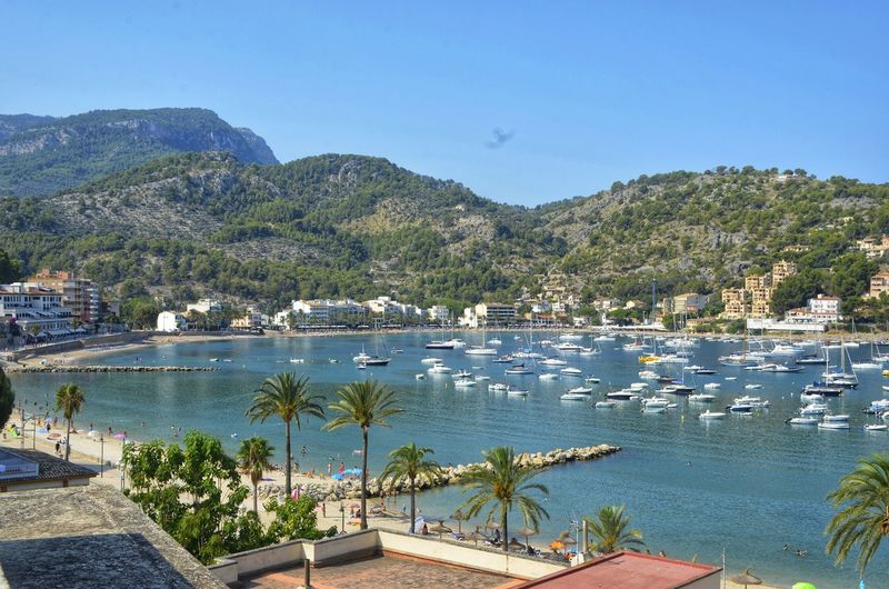 port de sóller Tree Water Nautical Vessel Mountain Beach Lake Clear Sky Sky Plant Harbor Marina Boat Calm