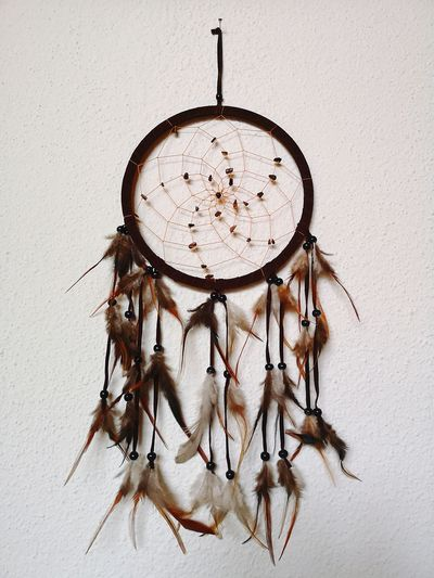 Dreamcatcher Feather  Festhers Handcraft Decoration Decor Home Home Interior Cosy Cosy Place Wintertime Winter Decoration Autumn Autumn Decoration Wall Hanging Hanging Close-up Religious Equipment Art And Craft Art