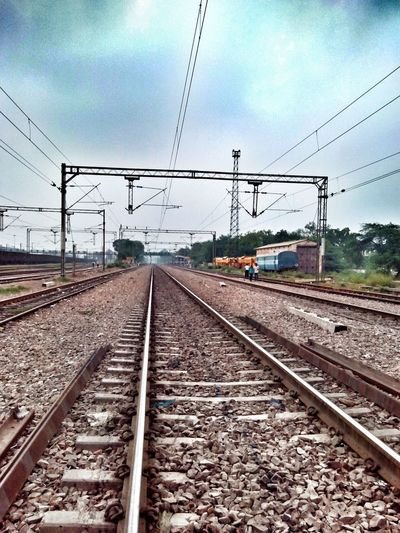 Railway Tracks Train Railroad Tracks Railroad Love♥ Monochrome Starting A Trip Photooftheday Poular Photos Beautiful View