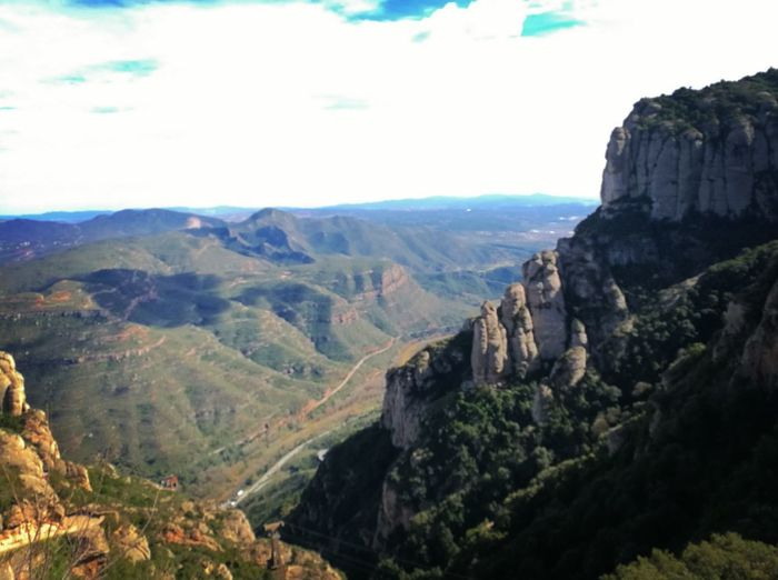 Montserrat Catalunya Montañas Catalunya Tourism Tranquility