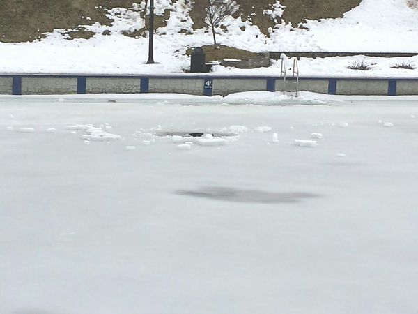 Hope no ine fell in Ice Ice Skating Icy Water Icy Melting Ice Spring Snowy Canal SO COLD Ice Cold Water