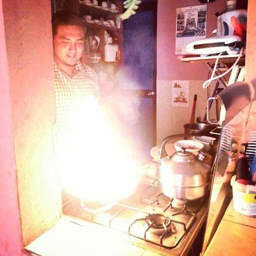 Como me Encantaaa el Fuego :) Flameado Cocina IncendiamosLaCasa xD jajaja