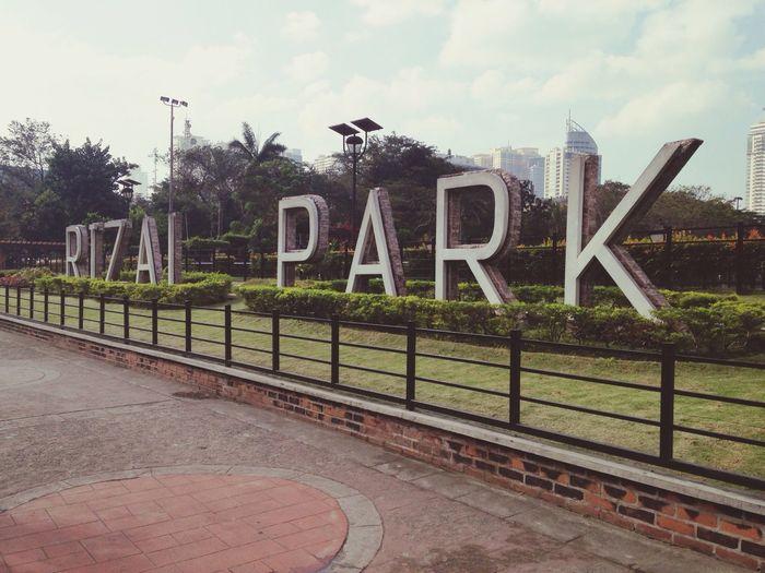 RizalPark Manila Homework