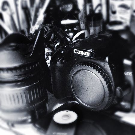 Camera - Photographic Equipment Photography Themes Camera - Photographic Equipment Technology Digital Camera Close-up Arts Culture And Entertainment Indoors  Camera No People Black Color Photographing SLR Camera Digital Single-lens Reflex Camera Film Industry Day Canon Sidekick1 Blackandwhite Pinhole Lens